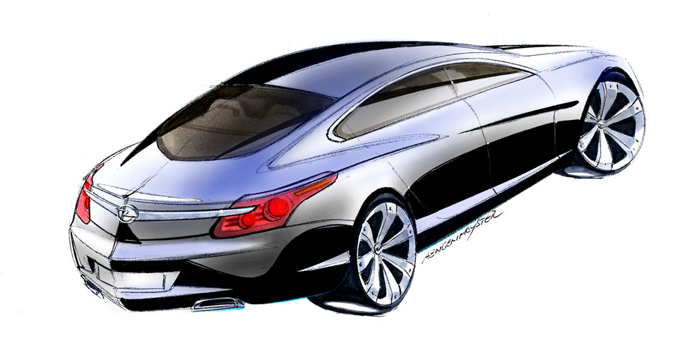 Dessin : Opel Insignia