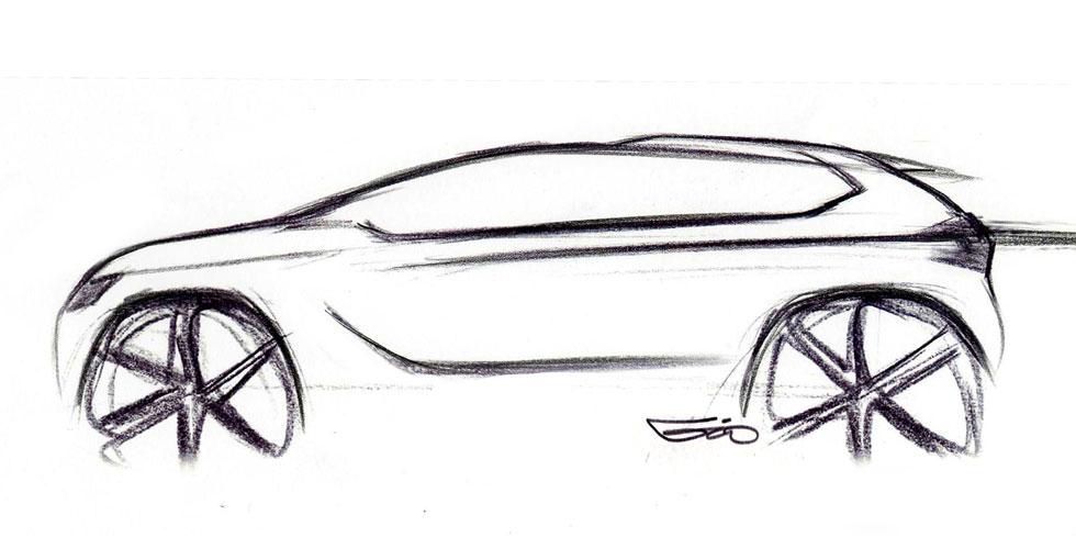Dessin : Peugeot 2008 Concept