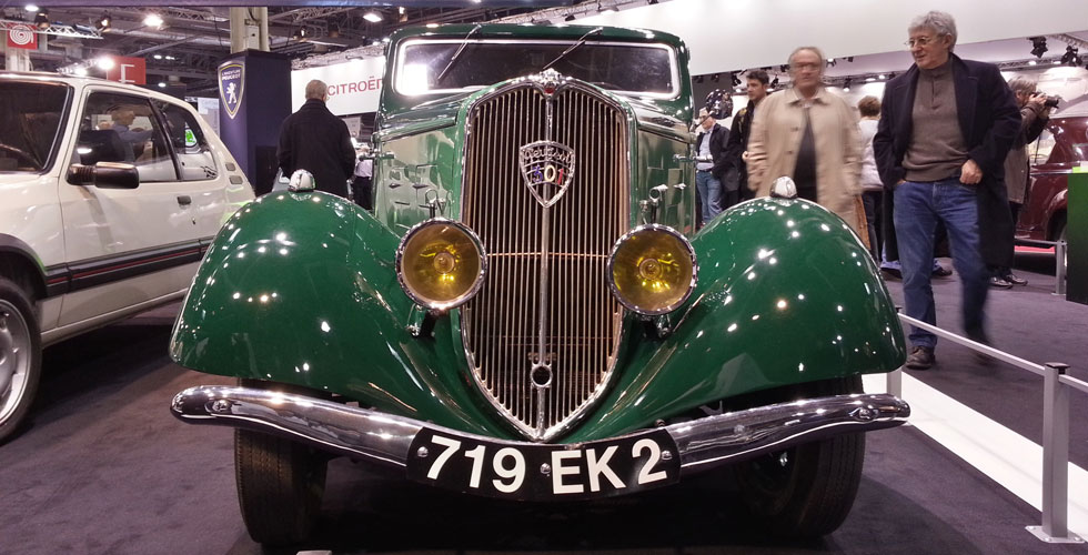 Retromobile : visite du stand Peugeot