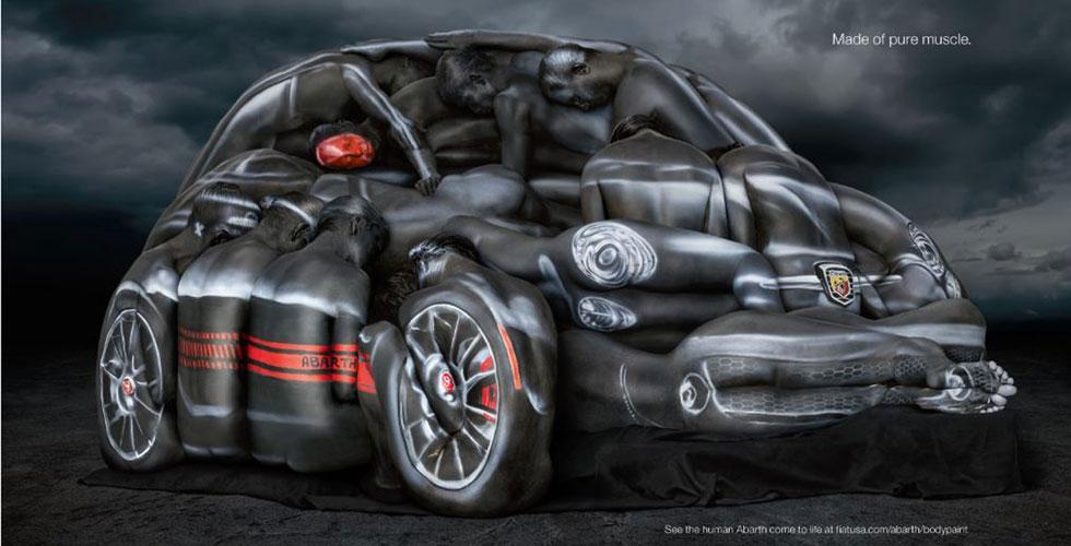Publicité : Fiat 500 Abarth