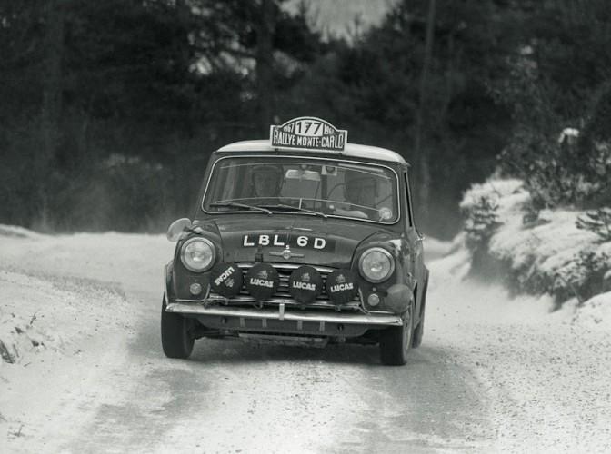 Rauno Aaltonen & Henry Liddon, BMC Mini Cooper S, victorieux du Monte-Carlo 1967