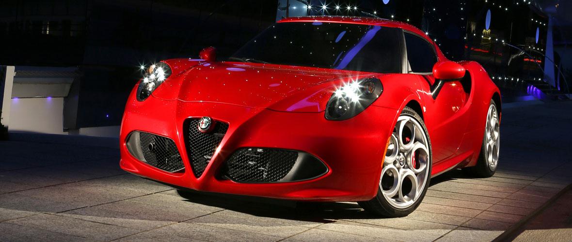 La plus belle voiture de l'année est l'Alfa Romeo 4C