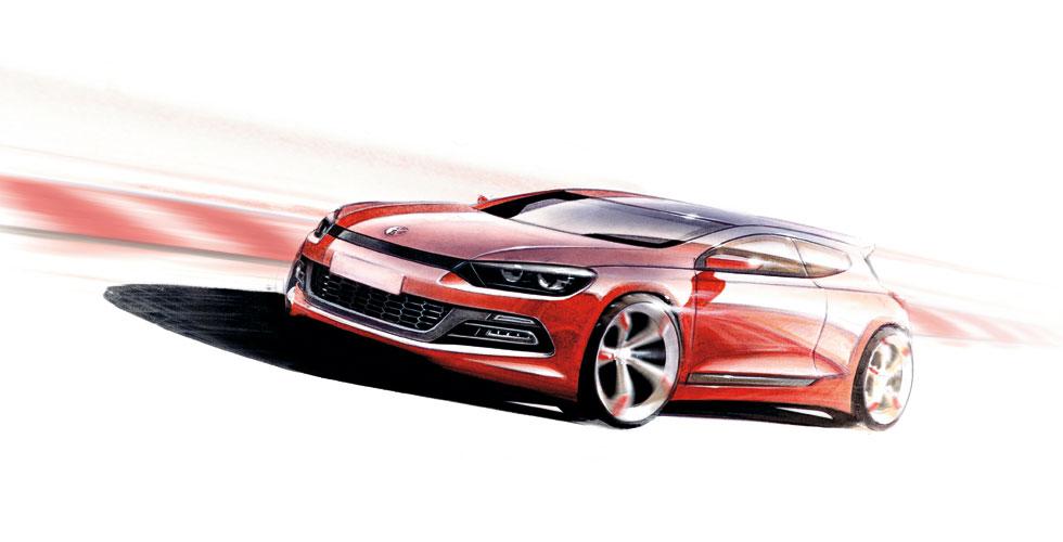 Dessin : Volkswagen Scirocco