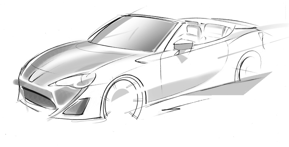 Dessin : Toyota FT-86 Open concept