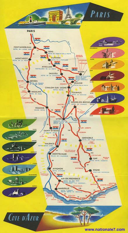 carte de france nationale 7