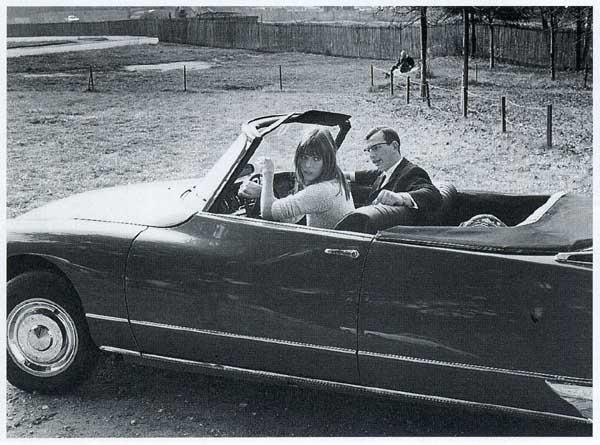 Citroen cabrio DS21 Jane Birkin-4