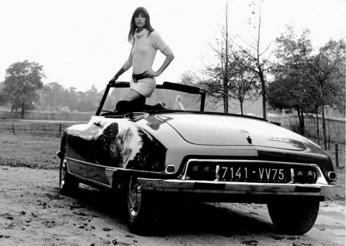 Jane Birkin et la Citroën DS Cabriolet Chapron | AUTOcult.fr