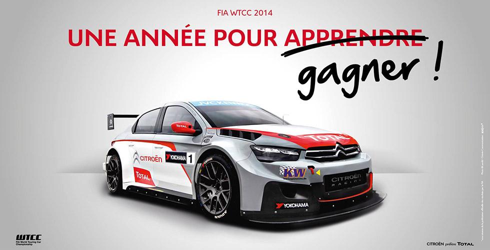 Citroën champion FIA WTCC 2014 : en 4 langues s'il vous plait.