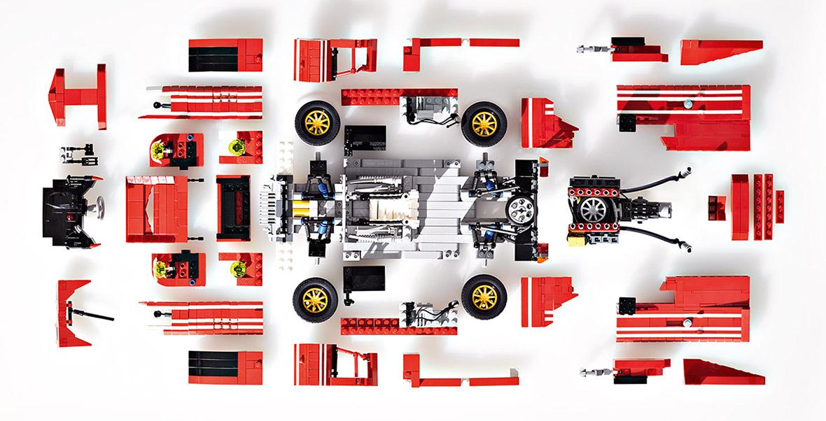 Des Porsche en Lego