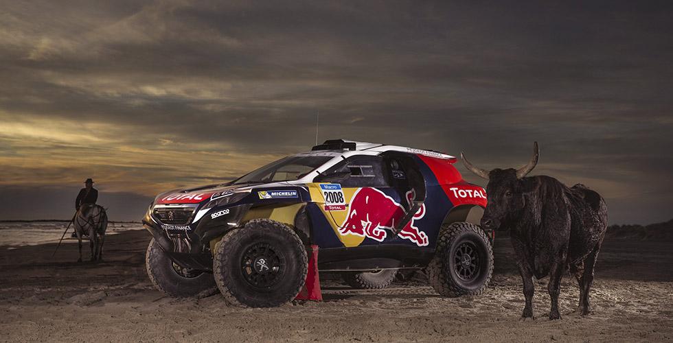 Peugeot 2008 DKR : la livrée officielle Red Bull