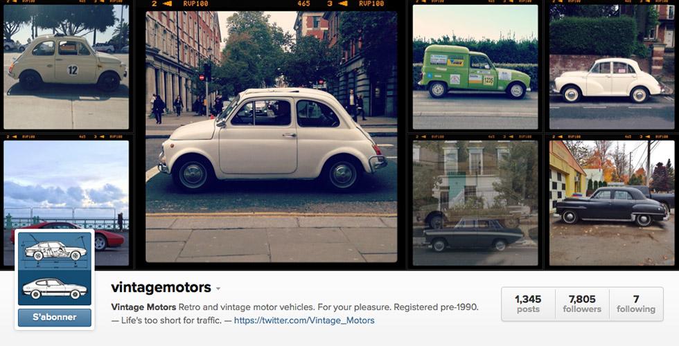 vintagemotors : l'automobile vintage sur Instagram