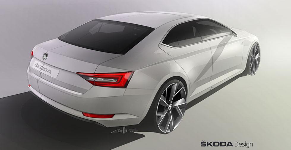 Dessin : Skoda Superb