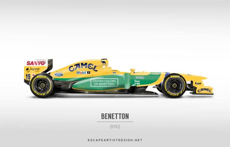 Nouvelles F1 Anciennes livrées_Benetton