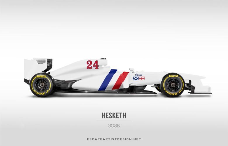 Nouvelles F1 Anciennes livrées_Hesketh