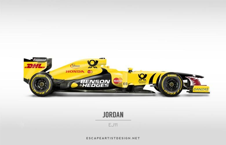 Nouvelles F1 Anciennes livrées_Jordan
