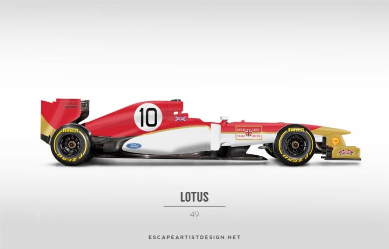 Nouvelles F1 Anciennes livrées_Lotus