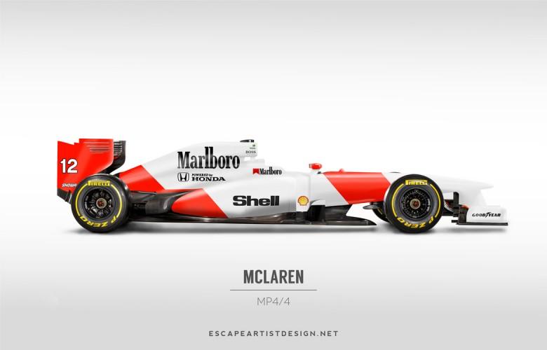 Nouvelles F1 Anciennes livrées_McLaren