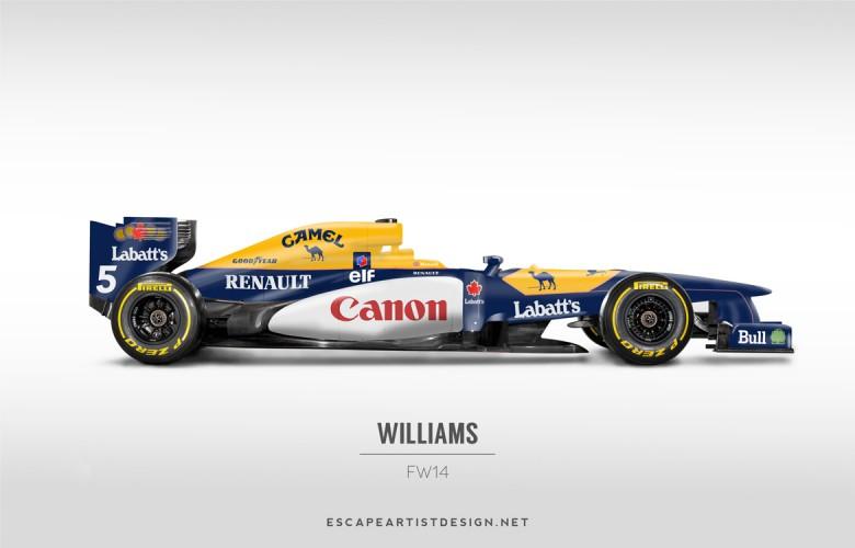 Nouvelles F1 Anciennes livrées_Williams