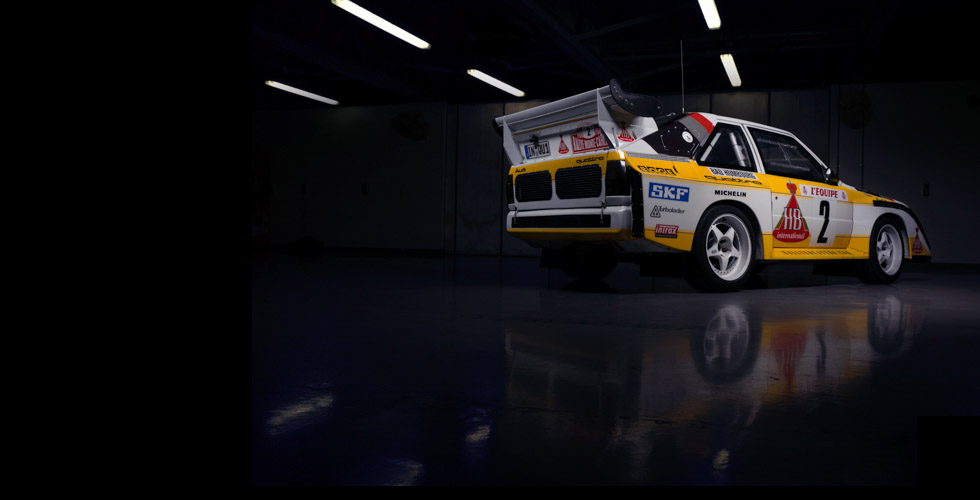 Studio photo : Audi S1 quattro Groupe B