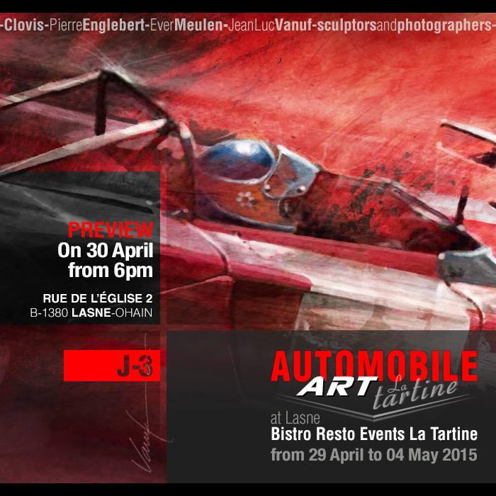 exposition Automobile Art at La Tartine Lasne Ohain