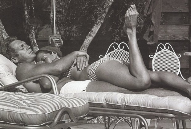 Steve McQueen et sa femme Neile Adams