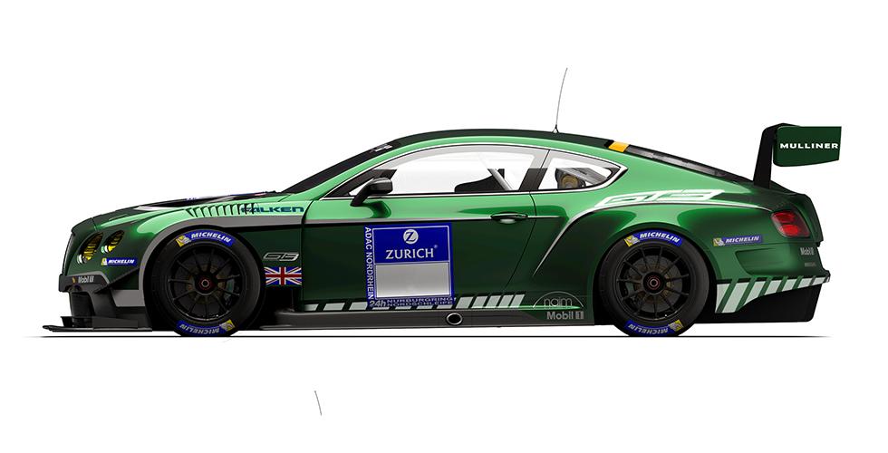 Bentley : une livrée hommage pour les 24H du Nurburgring