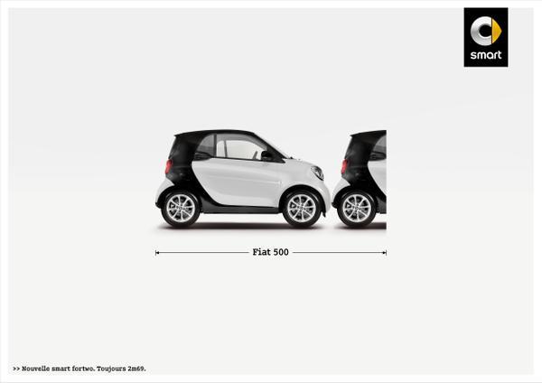 Pub print Smart tacle à nouveau ses petites concurrentes