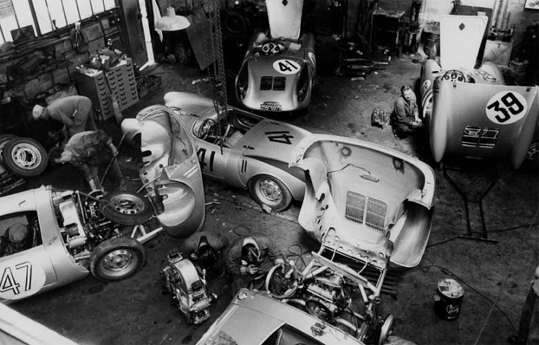 le mans porsche garage teloche 1954 - 06