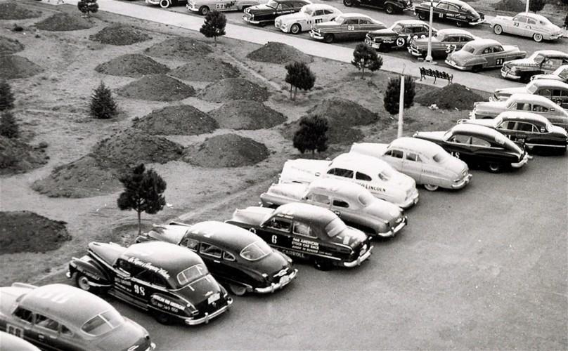 Parc fermé de la Carrera Panamericana 1950