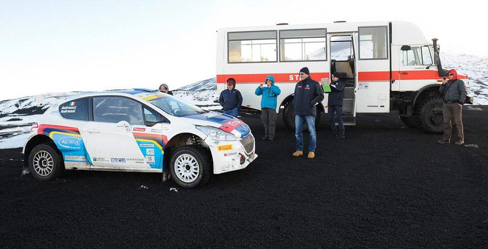 Peugeot affronte l'Etna : côté backstage !