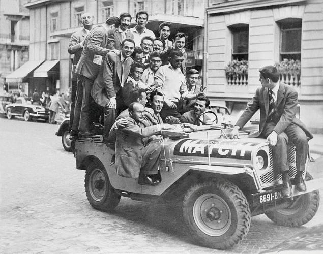 jeep tour de france 1953 Paris Match