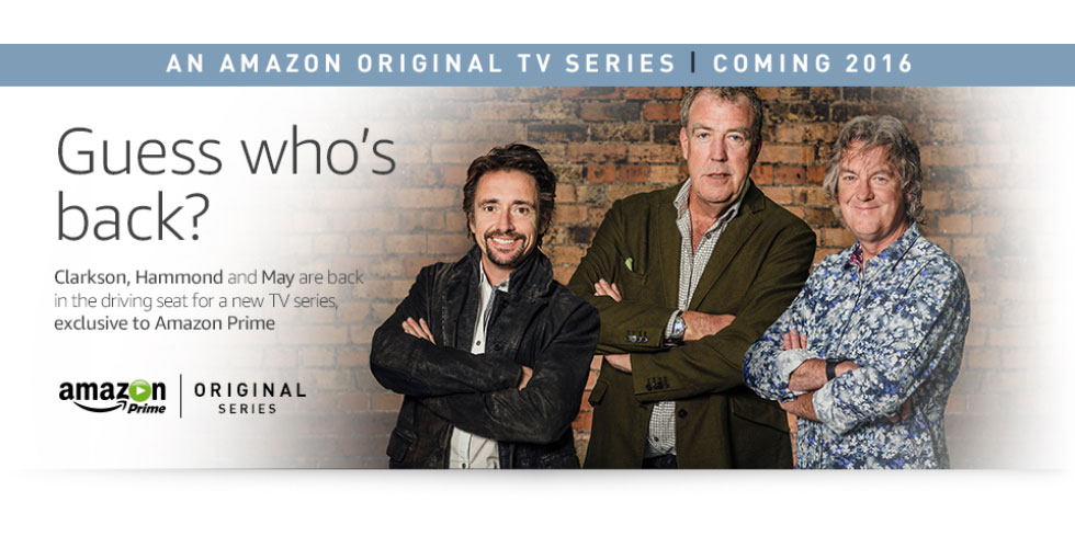 Clarkson, Hammond et May chez Amazon !