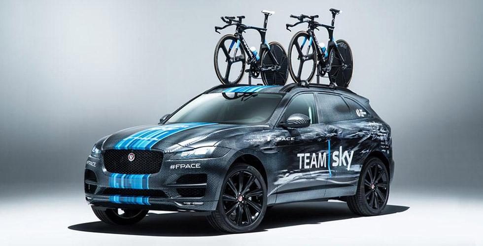 Utrecht, Jaguar révèle son F-PACE sur le Tour de France