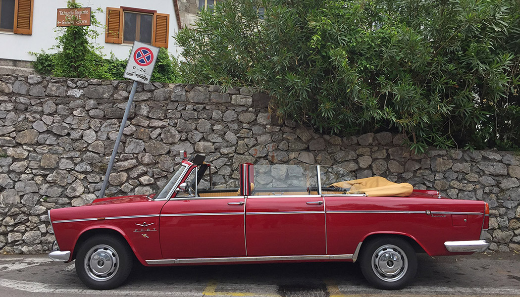 Fiat 1500 Cabriolet et Marea rallongée : les taxis de Capri