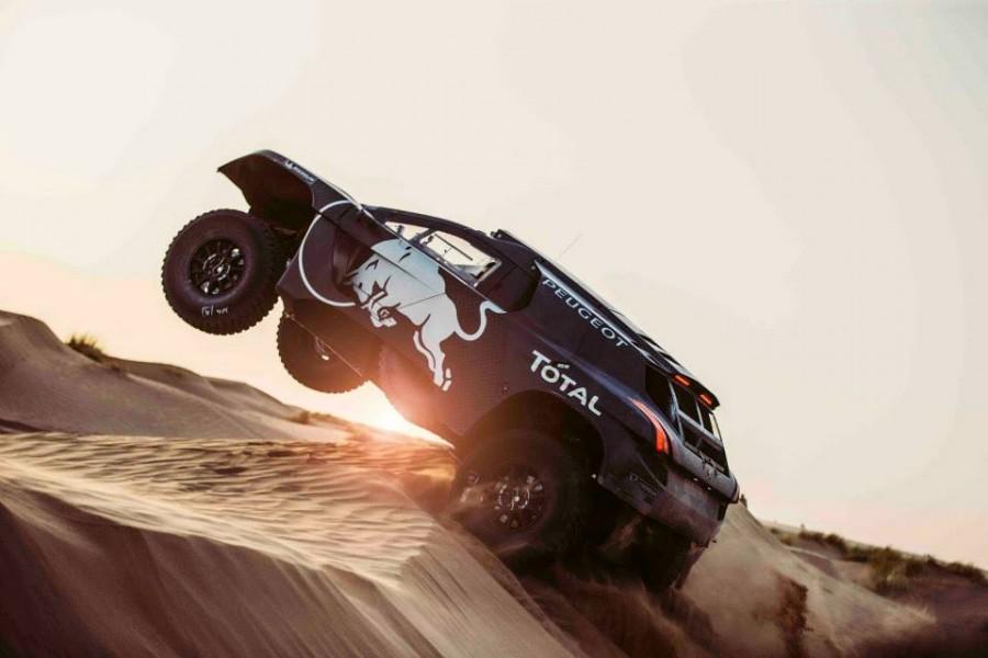 Peugeot 2008 DKR Evo Red Bull Dakar 2016 essais Maroc Espagne