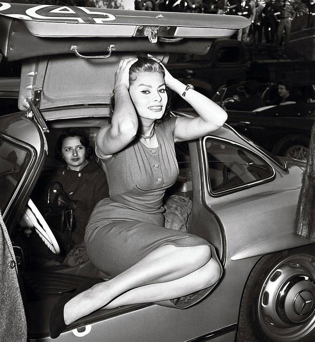 Sophia Loren Gullwing Mercedes