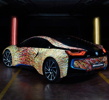 BMW Italia BMW i8 Giacomo Balla Garage Italia Customs BMW art car header