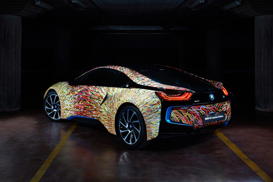 W Italia BMW i8 Giacomo Balla Garage Italia Customs BMW art car 03