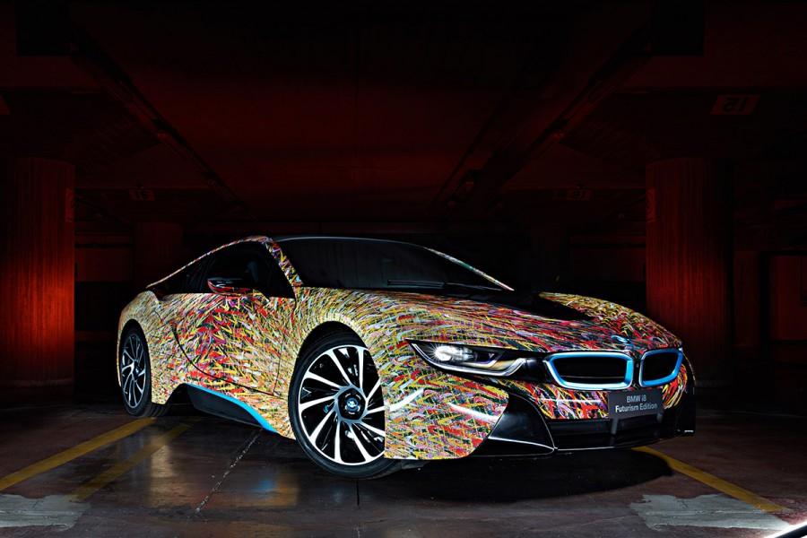 W Italia BMW i8 Giacomo Balla Garage Italia Customs BMW art car 04