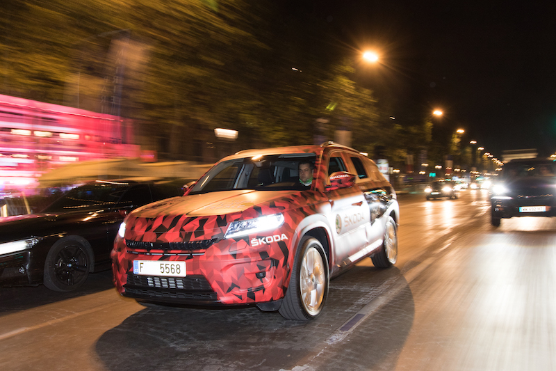 Skoda Kodiaq Tour de France 2016 Paris Champs Elysees - 5
