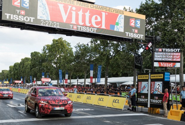 Skoda Kodiaq Tour de France 2016 Paris Champs Elysees - header