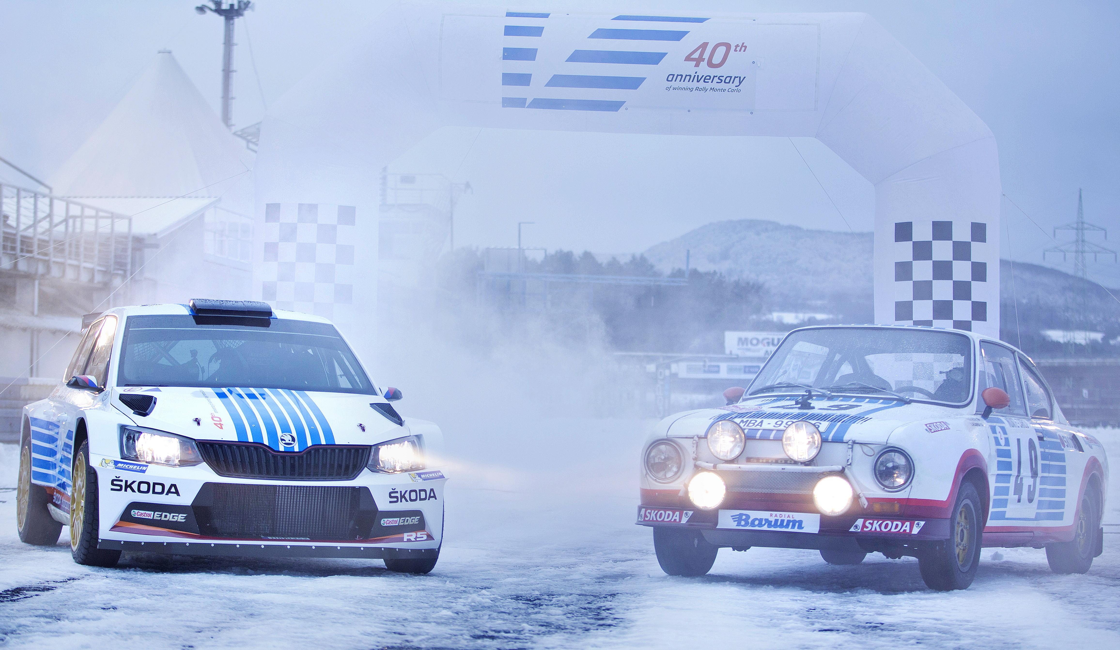 Škoda au Rallye Monte-Carlo : la livrée hommage 1977-2017