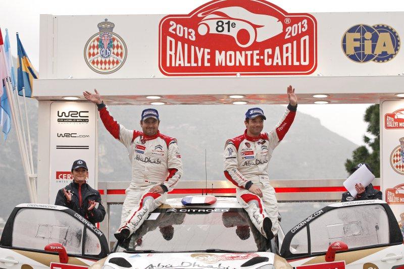 2013, le dernier podium en date de Citroën au Rallye Monte-Carlo, avec Loeb & Elena.