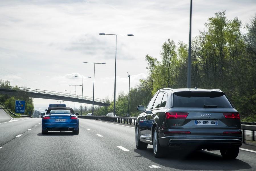Audi Sport Experience 2017 - Audi SQ7 test drive - essai audi sq7 - audi ttrs