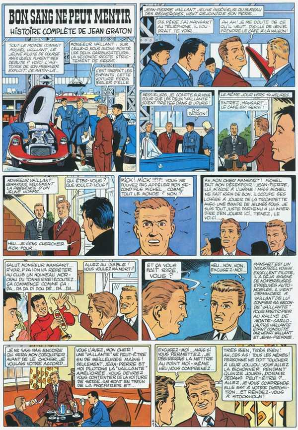 """""""Bon sang ne peut mentir"""", première aventure de Michel Vaillant, en 1957. © Droits réservés"""
