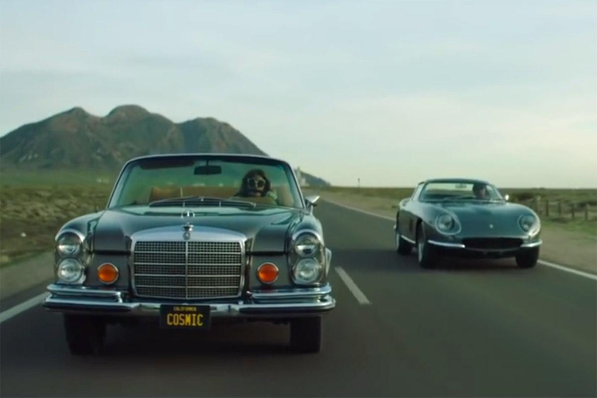 Cloud 9 / Jamiroquai : Mercedes Benz 280 SE Cabriolet & Ferrari 275 GTB