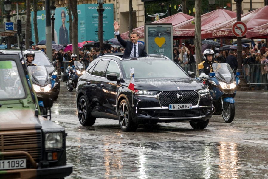 DS 7 Crossback president republique francaise emmanuel macron investiture paris champs elysees - 06