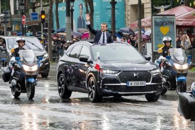 DS 7 Crossback president republique francaise emmanuel macron investiture paris champs elysees