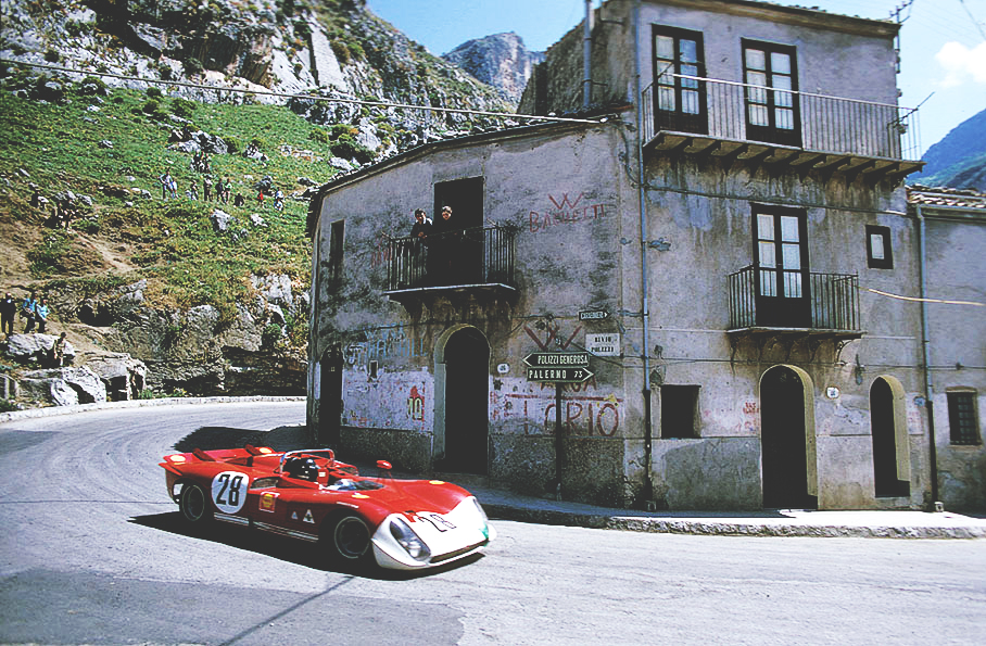 Piers Courage (GB) and Andrea de Adamich (I) in the Alfa Romeo T33/3 entered by Autodelta SpA
