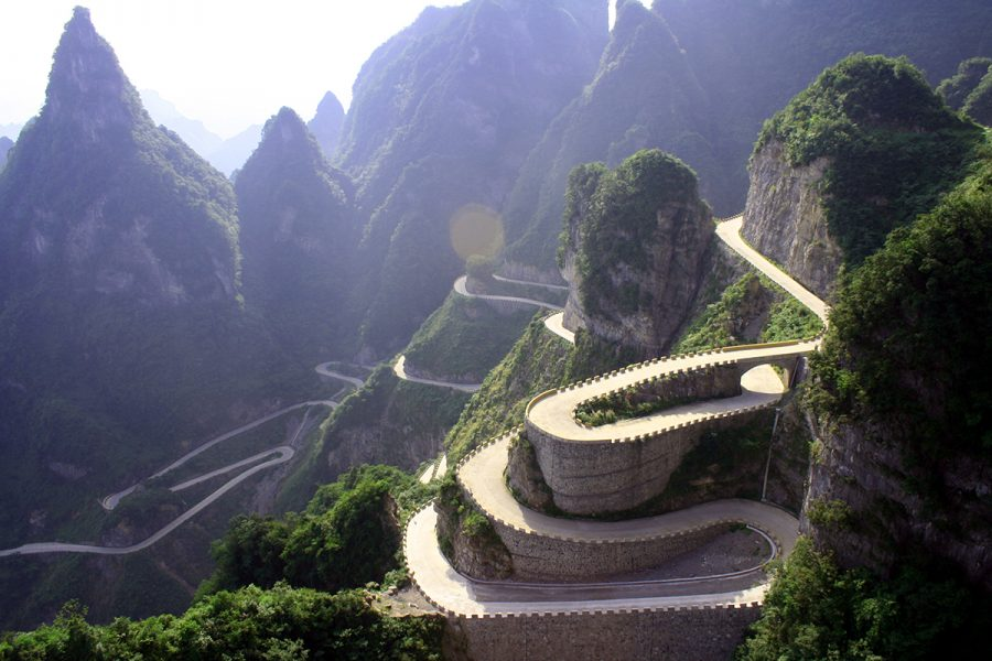 Tianmen road, Tianmen Mountain National Park, Chine